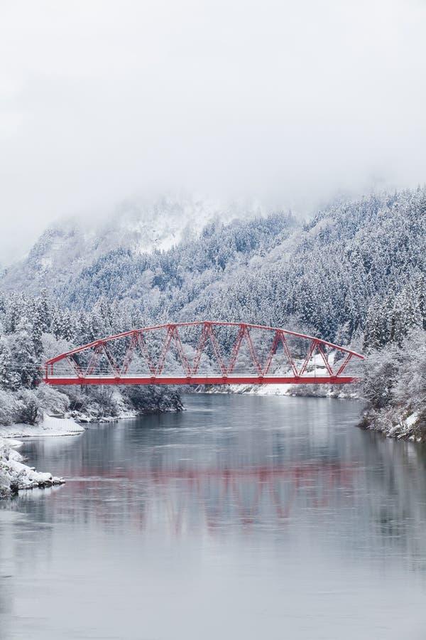 Paesaggio di inverno della campagna del Giappone alla città di Mishima fotografie stock libere da diritti