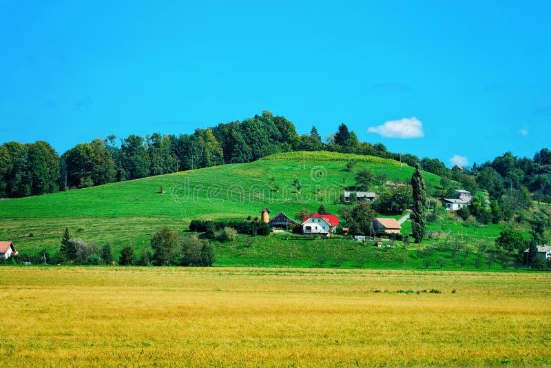 Paesaggio di Maribor e delle colline Stiria più bassa fotografia stock