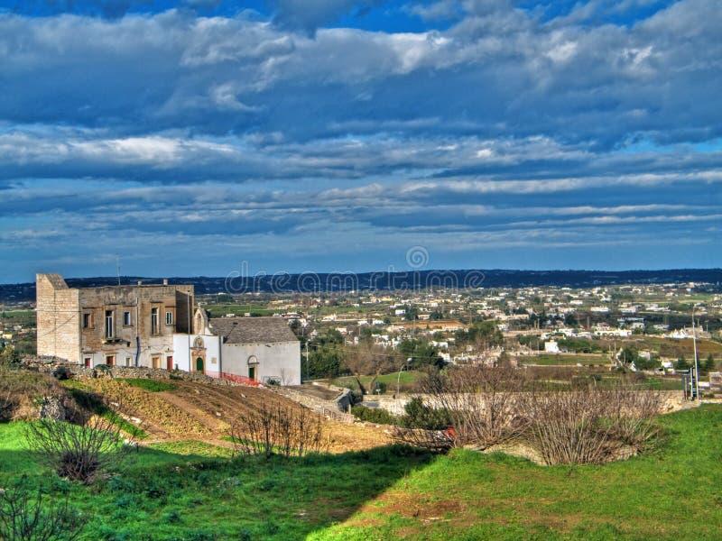 Paesaggio di Martina Franca. Apulia. fotografia stock libera da diritti