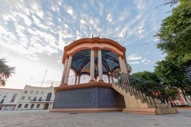 Paesaggio di Miguel Hidalgo della plaza immagini stock