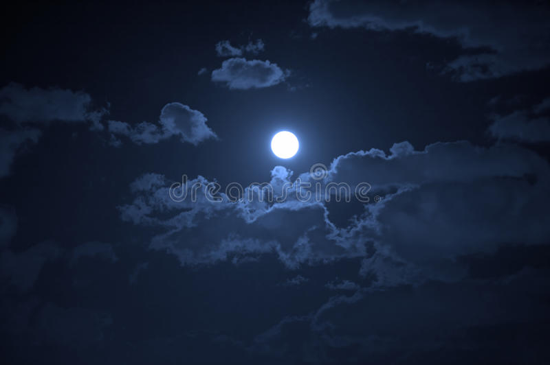Paesaggio di notte fotografie stock