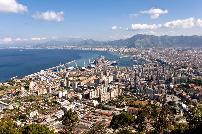 Paesaggio di Palermo fotografie stock libere da diritti