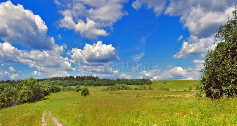 Paesaggio di panorama di estate fotografie stock