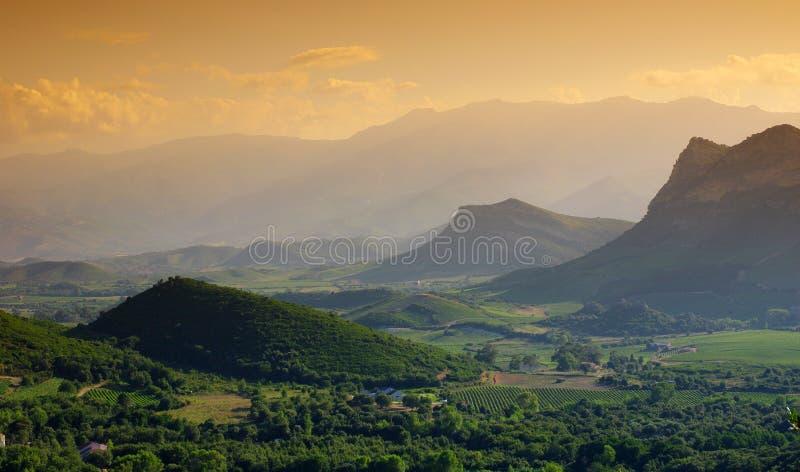 Paesaggio di Patrimonio in Corsica fotografia stock libera da diritti