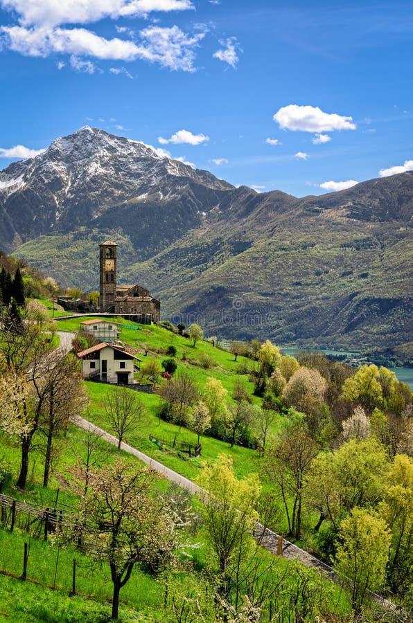 Paesaggio di Peglio (Lago di Como) fotografie stock