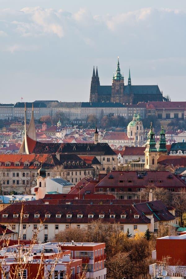 Paesaggio di Praga immagini stock
