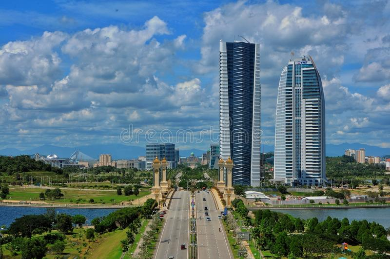 Paesaggio di Putrajaya immagini stock libere da diritti