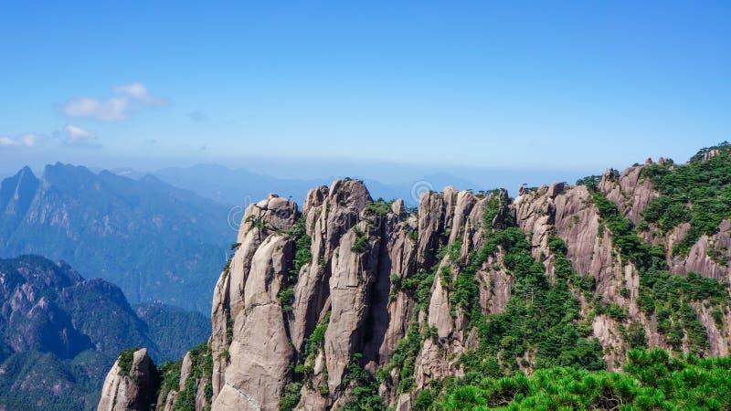 Paesaggio di Sanqingshan del supporto della Cina fotografia stock libera da diritti