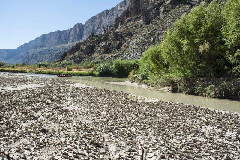 Paesaggio di Santa Elena Canyon Big Bend fotografia stock libera da diritti