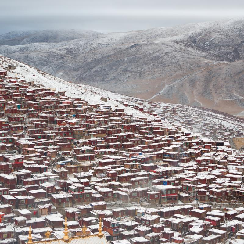 Paesaggio di Sedah in Ganzi, Sichuan, Cina fotografia stock libera da diritti