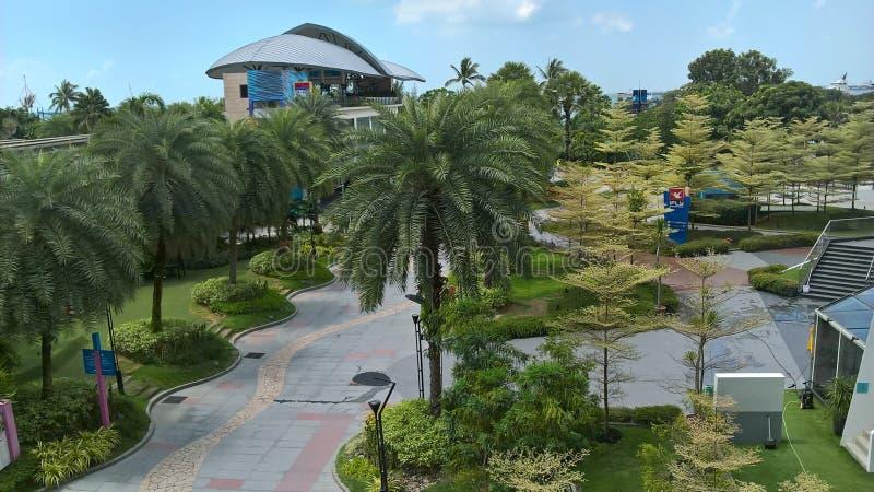 Paesaggio di Singapore fotografie stock