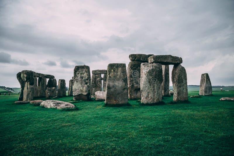 Paesaggio di Stonehenge in Inghilterra, fotografia stock