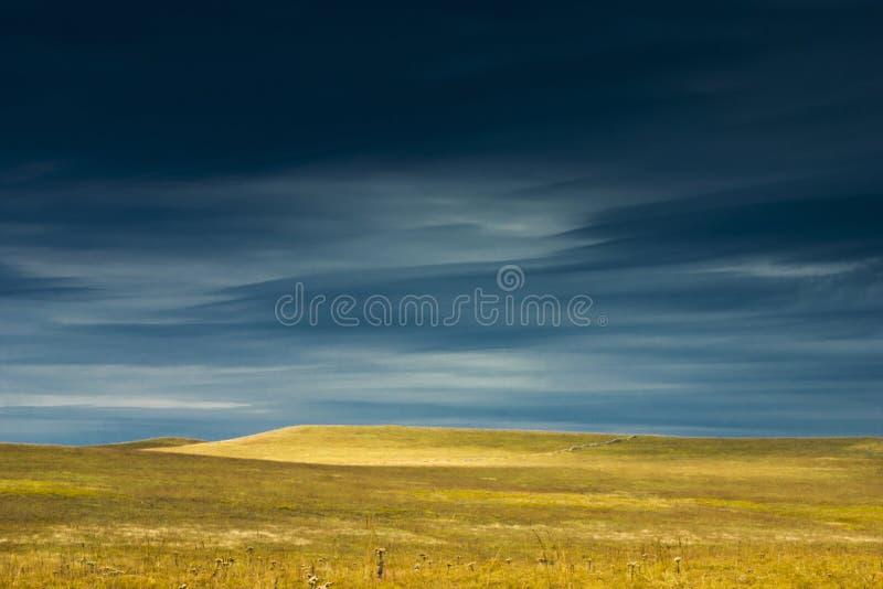 Paesaggio di stupore della prerogativa della prateria di Kansas Tallgrass immagini stock libere da diritti