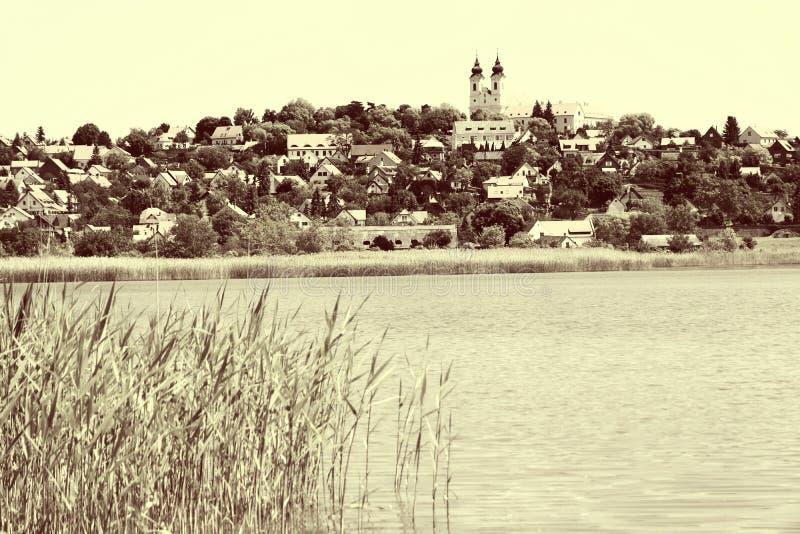Paesaggio di Tihany al Balaton, Ungheria immagini stock