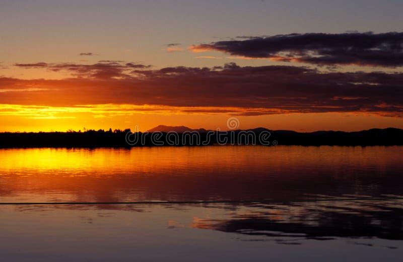 Paesaggio di tramonto nella Patagonia Cile immagini stock