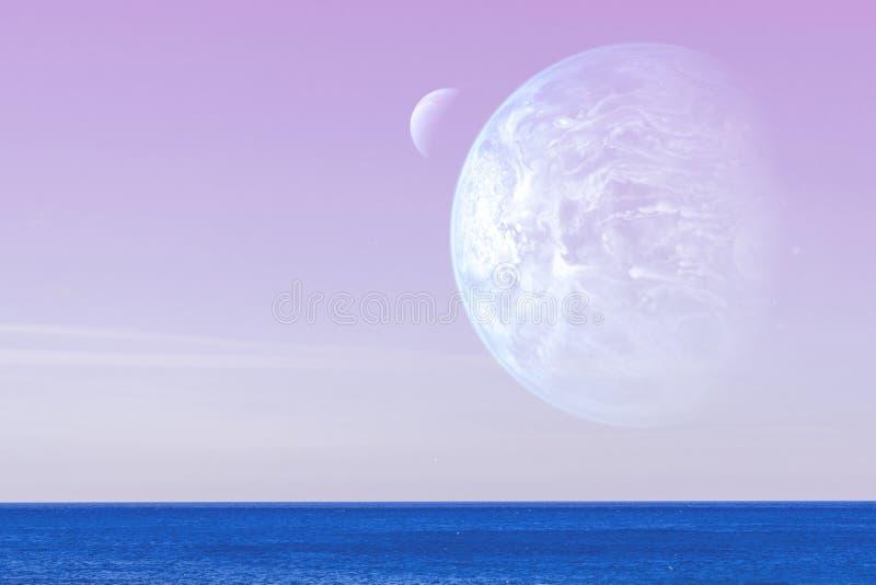 Paesaggio di un pianeta straniero fotografia stock