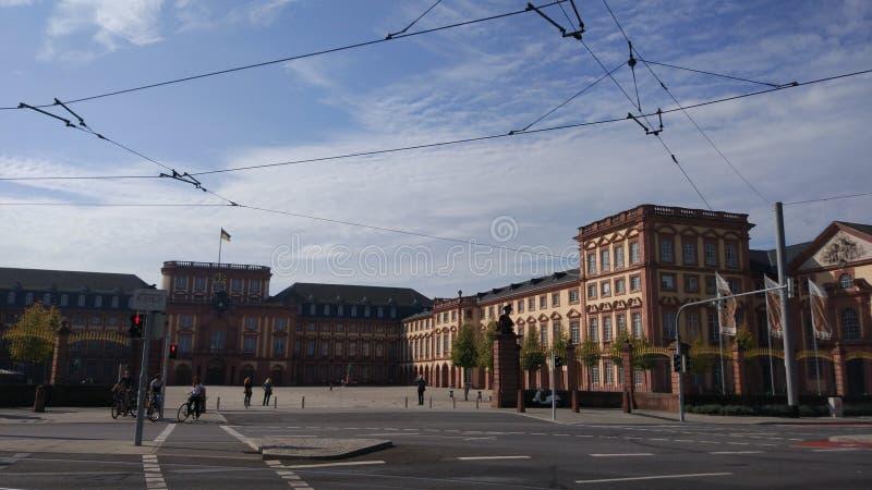 Paesaggio di verde di serenità della Germania Mannheim fotografia stock