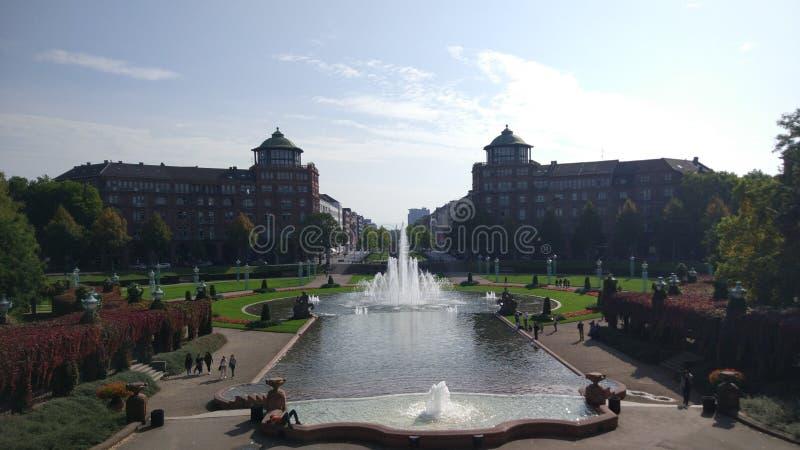Paesaggio di verde di serenità della Germania Mannheim immagini stock libere da diritti