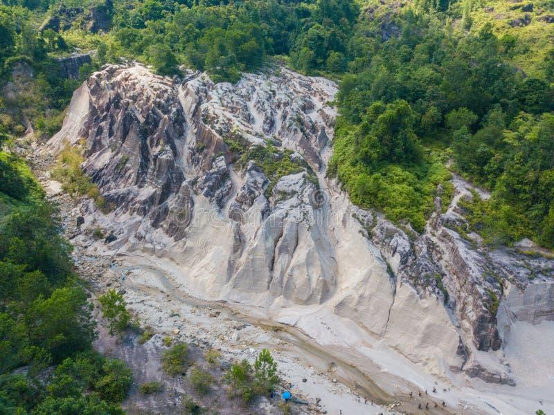 Paesaggio di vista aerea del canyon al Grand Canyon Kapong, NG di Phang fotografia stock libera da diritti