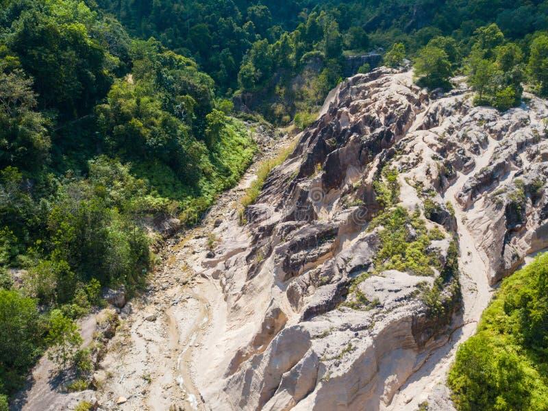 Paesaggio di vista aerea del canyon al Grand Canyon Kapong, NG di Phang fotografie stock libere da diritti
