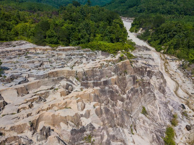 Paesaggio di vista aerea del canyon al Grand Canyon Kapong, NG di Phang immagine stock libera da diritti