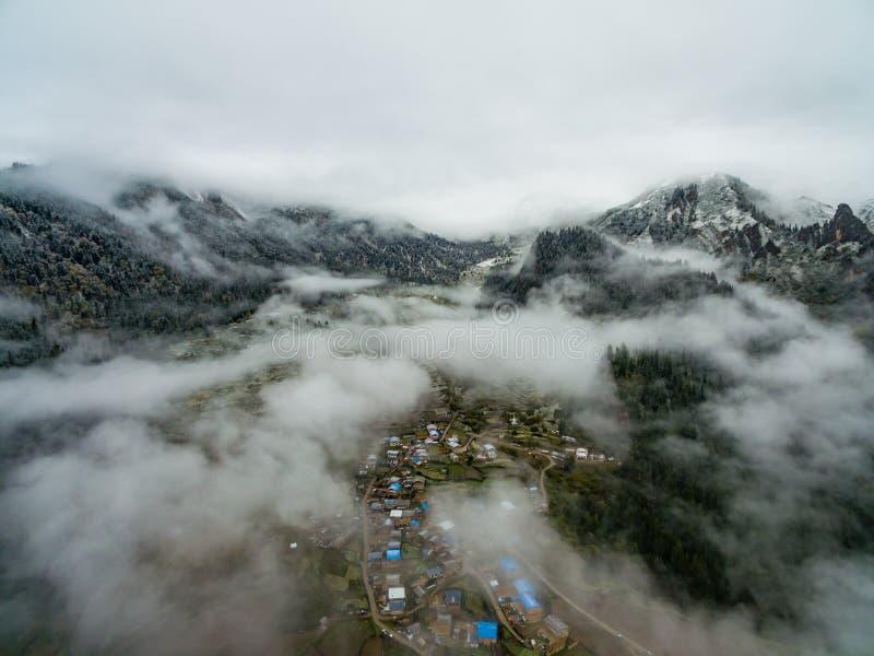 Paesaggio di vista aerea di Zhagana in Gannan, cinese Gansu immagine stock libera da diritti