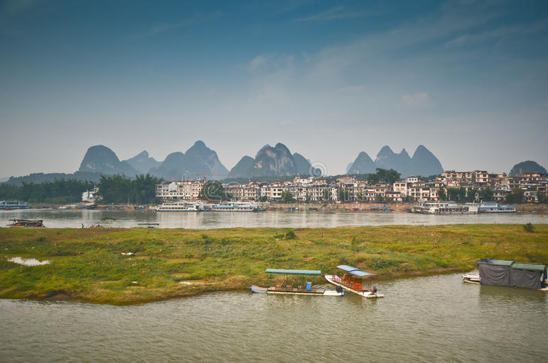 Paesaggio di Yangshuo fotografia stock libera da diritti
