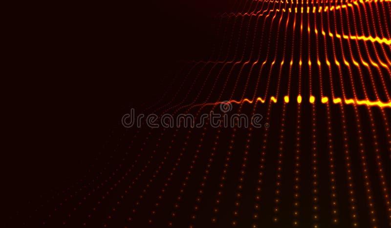 Paesaggio digitale futuristico astratto di vettore royalty illustrazione gratis