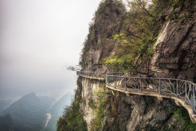Paesaggio e punto di vista della montagna di Tianmen fotografia stock libera da diritti