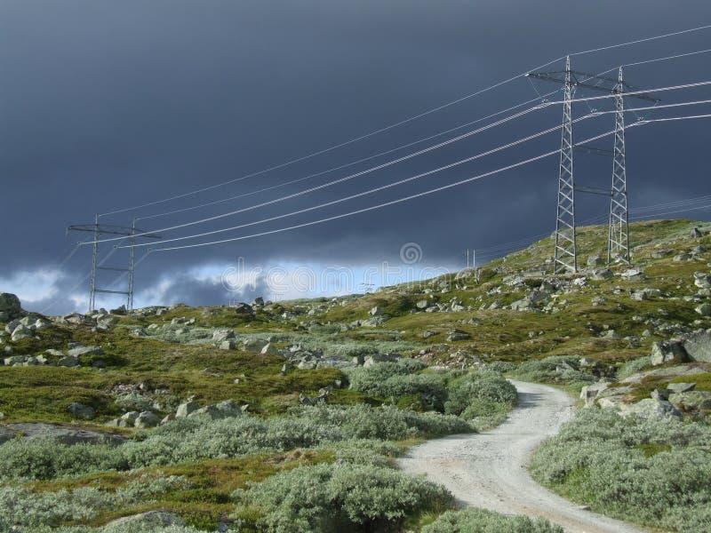 Paesaggio ed elettrico naturali fotografia stock libera da diritti
