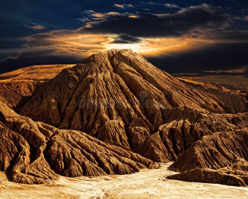 Paesaggio fantastico della montagna del deserto fotografia stock
