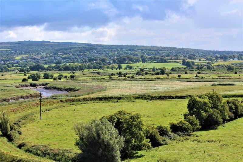 Paesaggio fertile dell'Irlandese immagini stock libere da diritti