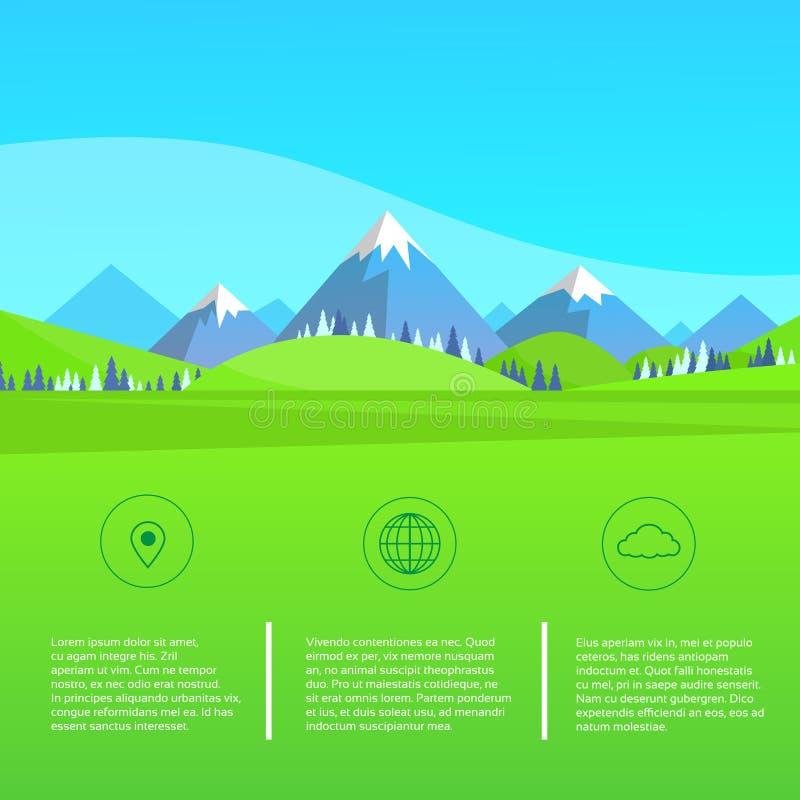 Download Paesaggio Forest Park Blue Dell'erba Verde Della Montagna Illustrazione Vettoriale - Illustrazione di collina, paesaggio: 56882778