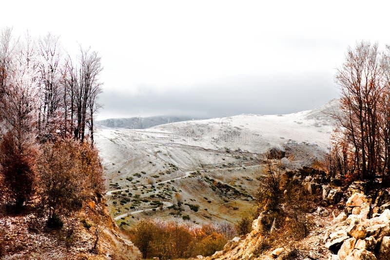paesaggio freddo di autunno piacevole immagini stock libere da diritti