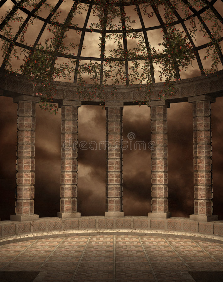 Paesaggio gotico 34 royalty illustrazione gratis