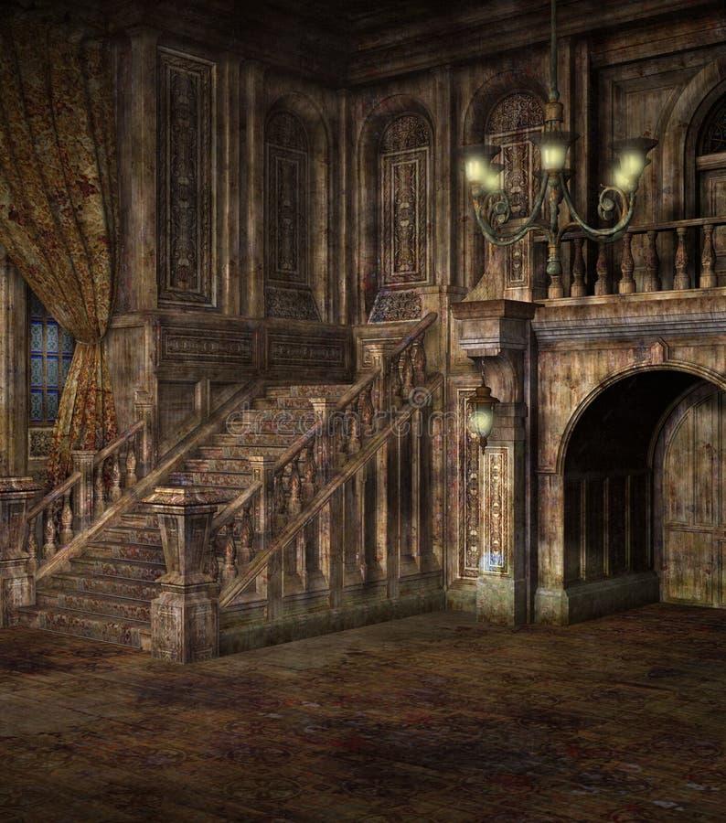 Paesaggio gotico 49 illustrazione vettoriale