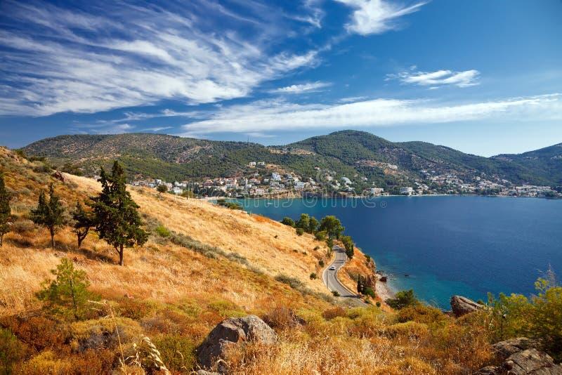 Paesaggio greco immagine stock
