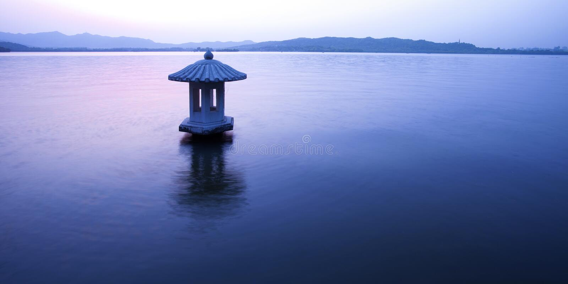 Paesaggio a hangzhou immagine stock