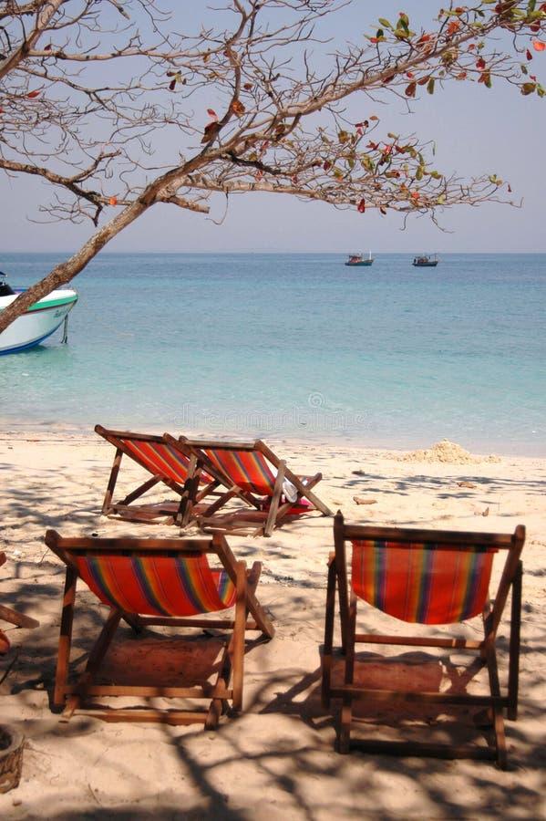 Paesaggio idillico della spiaggia fotografie stock libere da diritti
