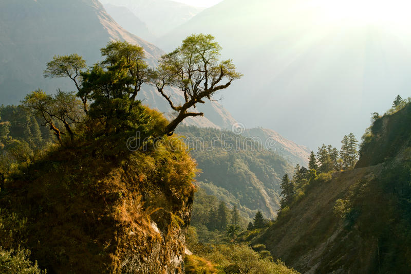 Paesaggio incantato del Nepal fotografie stock libere da diritti