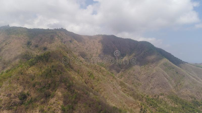 paesaggio Indonesia della montagna immagini stock libere da diritti