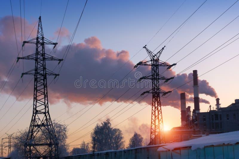 Paesaggio industriale E fotografia stock