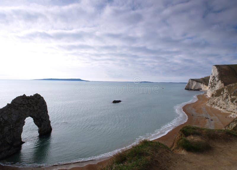 Paesaggio inglese del litorale del Dorset fotografia stock libera da diritti