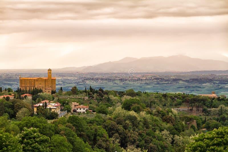 Paesaggio intorno a Volterra, Toscana, Italia fotografia stock libera da diritti