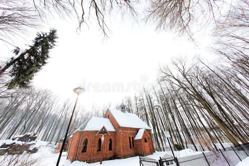 Paesaggio invernale in Polonia immagine stock