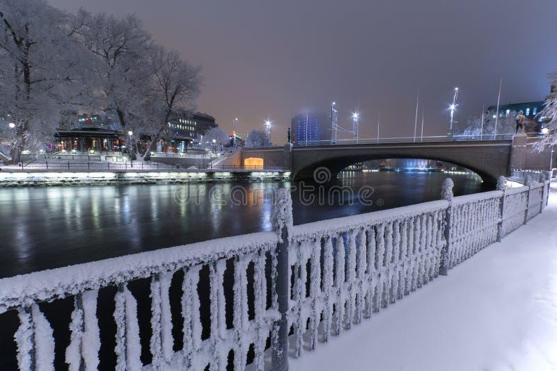 Paesaggio invernale a Tampere fotografia stock libera da diritti