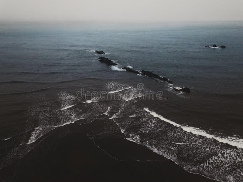 Paesaggio islandese dell'oceano immagine stock
