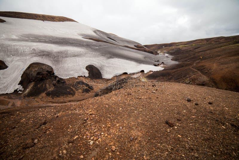 Paesaggio islandese freddo - Laugavegur, Islanda fotografie stock libere da diritti