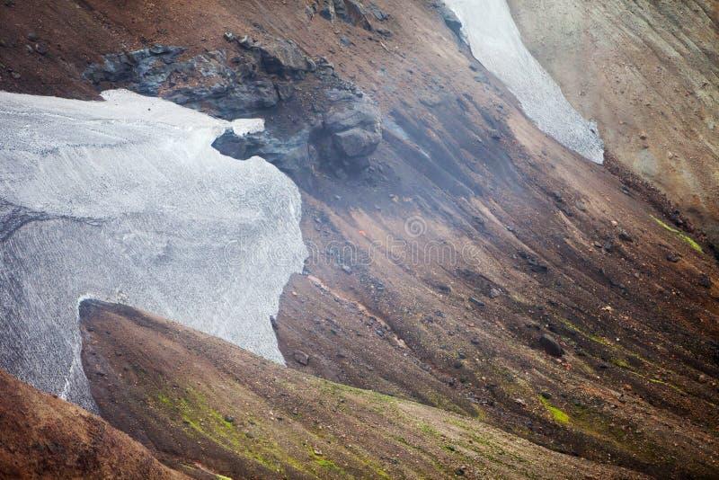 Paesaggio islandese freddo - Laugavegur, Islanda immagini stock