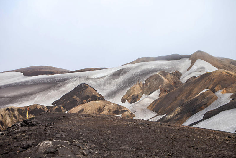 Paesaggio islandese freddo - Laugavegur, Islanda immagine stock libera da diritti